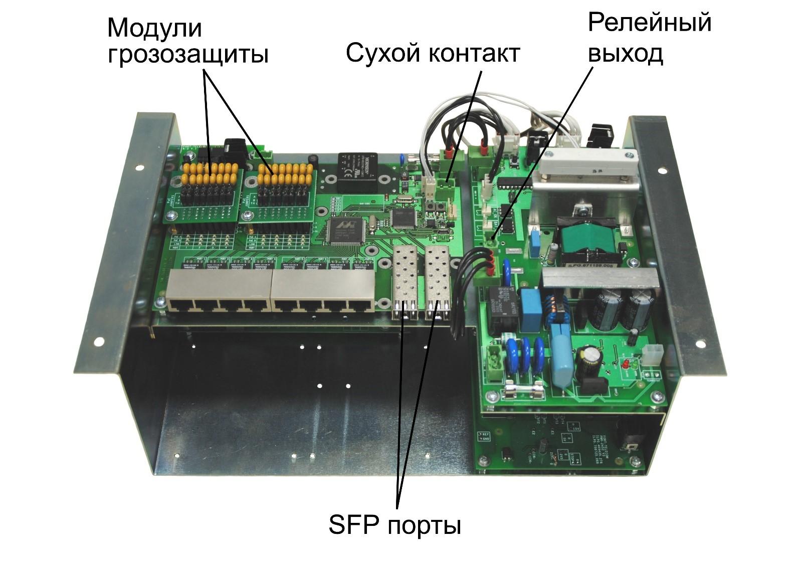 Коммутатор TFortis PSW-2G8F+UPS-Box - Акрон-СБ